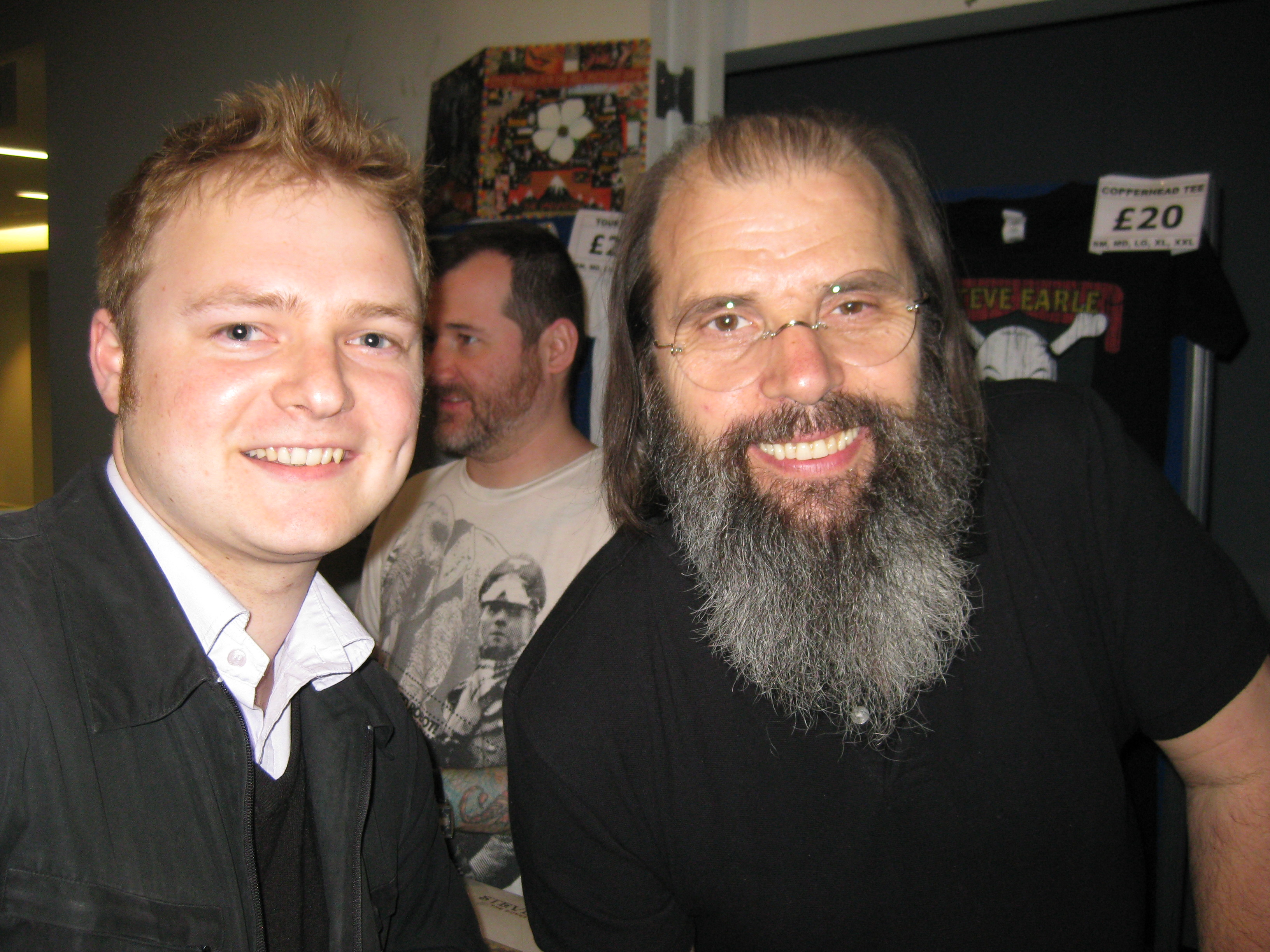 Ant meets Steve Earle! May 2013 (2)