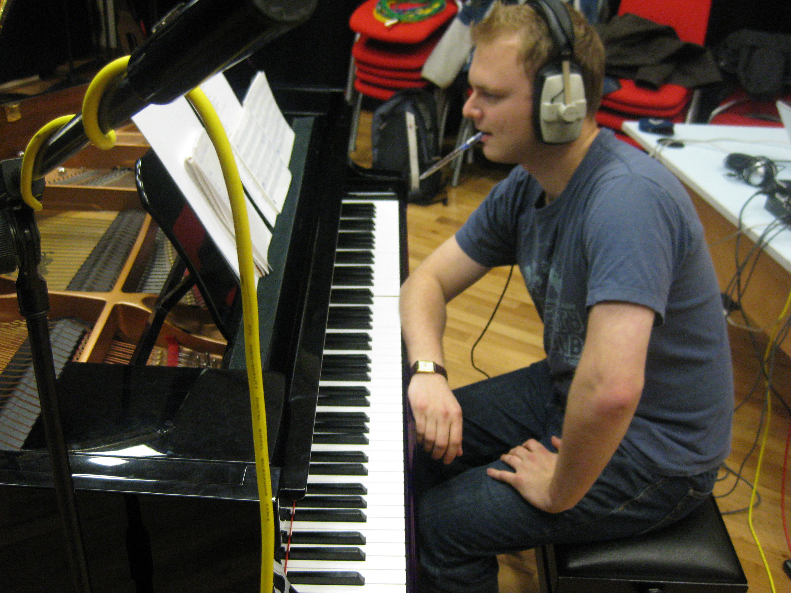 Recording HR in 2009 (Ant on piano)