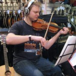 Recording HR in 2009 (Ant on violin)
